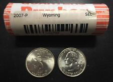 ESTADOS UNIDOS QUARTER 2007 P WYOMING 40 coins ROLL United States USA 1/4 Dollar