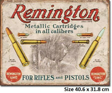 Remington For Rifles & Pistols Tin Sign 1788  Made in USA