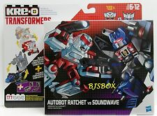 KRE-O Transformers Kreon Battle Changers Autobot Ratchet VS Soundwave 2 Pack New