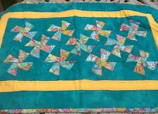 Windmill Quilt Wall Hanging Baby Child Crib Lap Doll Table Centerpiece 20x31