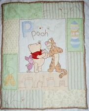 WINNIE THE POOH - BABY BLANKET - P IS FOR POOH - CRIB QUILT BEDDING