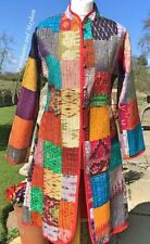 DIVINE NEW INDIAN PATCHWORK COAT UK SIZE 12 HIPPIE JACKET GYPSY FESTIVAL US 12