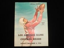 November 4, 1956 Chicago Bears vs. Los Angeles Rams NFL Program EX+