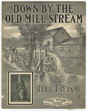 Down By The Old Mill Stream by Tell Taylor VTG sheet music #32