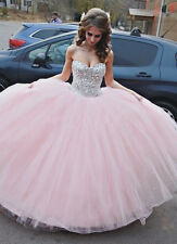 Light Pink Crystals Sweet 16 Dress 2015 Gorgegous Quinceanera Dresses Ball Gowns
