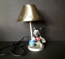 RARE Vintage Disney Mickey Mouse Tabletop Night light Lamp STAINLESS STEEL Shade