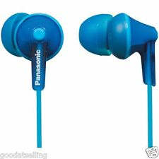 Panasonic RP-HJE125-A Stereo In Ear Canal Bud Ergofit Headphones RPHJE125 Blue