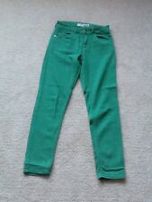 topshop green skinny jeans size 6