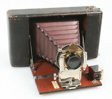 ANSCO 3 1/4 X4 1/4 FOLDING CAMERA, RARE, W/ BAUSH   LOMB, SE ROCO COMPONENTS