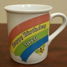 Rainbow Butterfly Happy Birthday Mom Coffee Mug By Enesco 1983 B22