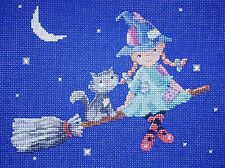 CL122 A Night Flight - Little Minx & Friends Cross Stitch Chart by Genny Haines