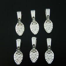 *33631 Vintage Silver Style Glue On Bail Alloy Charm Jewelry Making 15*5mm 15pcs