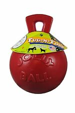 Jolly Pets Red Tug N Toss Jolly Ball 10 In, Handle Dog Toy Pet Fetch, New