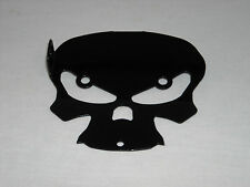 Harley Davidson Touring Lower Mount Cover 2009 to 2013 Black Skull Bell Hanger