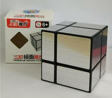 ShengShou 2x2 Mirror Magic Cube Silver Black  Mirror puzzle cube Toy Gift