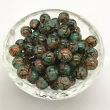 DIY 100 Pcs 4mm Round Pearl Loose Beads Double Colors Glass Jewelry Making #05