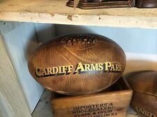 Complet Taille Vintage cuir 'Cardiff Bras Park' rugby Balle gallois rugby