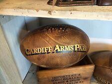 """Un tamaño Completo Vintage Cuero """"de Cardiff armas Park"""" Pelota De Rugby Gales Rugby"""