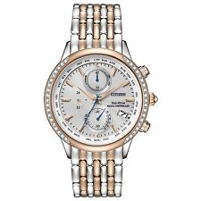 Citizen Eco-Drive Women's FC5006-55A World Chronograph A-T Diamond Accents Watch