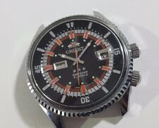 Vintage Orient SK KD King Diver Automatic Silver Dial 2 Windows- MOVEMENT PICS!