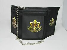 Men's men sky wallet black Money Purse military Israel defense forces idf chain