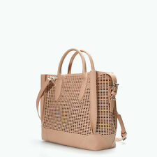 ZARA NWT Shopper with Cutouts and compartmentsr Bag Nude Color
