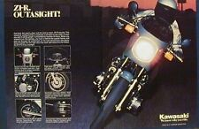 KAWASAKI Z1-R OUTASIGHT 2 Page Motorcycle Ad 1978 Z1R