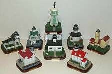 Lefton Lost Lights Lighthouses New Lot of 8 ST. Croix, Waukegan, St. Augustine +