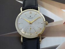 Vintage 1960s Solid 14K Gold Men's Hamilton Masterpiece Manual Wind Wristwatch