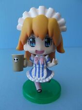 """EVANGELION """"ASUKA LANGLEY"""" BLUE & WHITE MAID OUTFIT 3""""IN PVC FIGURE  LOOSE"""