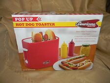 pop-up hot dog toaster americana collection new in box model ect-304