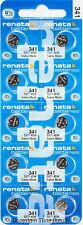 10 pc 341 Renata Watch Batteries SR714SW 341 FREE SHIP 0% MERCURY