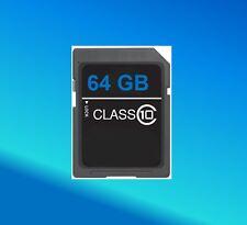 64GB Scheda di memoria per Nikon D600 D40 D3200 D3000 SLR Fotocamera SD SDHC Classe 10