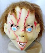 003 Chucky Horror Halloween Latex Rubber Adult Fancy Dress Mask with Hair new