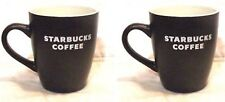 X 2 New~Starbucks White block Logo 2010 Cup Mug 12oz Dark Chocolate Mocha Brown