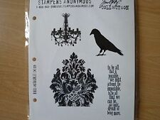 Stampers Anonymous Tim Holtz Cling Rubber Stamp Set - Birds and Baubles, New
