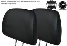 BLUE STITCH 2X FRONT HEADREST LEATHER SKIN COVER FITS HONDA CIVIC EK4 95-01