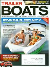 2010 Trailer Boats Magazine: Rinker 190 MTX/Custom Boat Cover/Freshwater Fishing