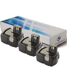 Lot de 3 batteries 18V 3000mAh pour Hitachi DS18DL - Société Française -