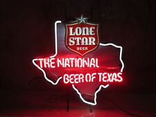 "LONE STAR ""National Beer of TEXAS"" Neon Sign / Bar Light – RARE shiner pearl TX"