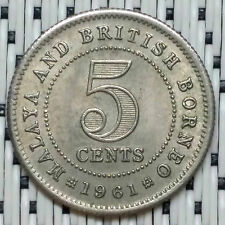 *GOOD/HIGH Grade* 1961 - Malaya - 5 Cents Elizabeth II #CBRK