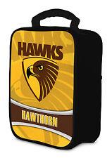 AFL Hawthorn Hawks COOLER BAG Zip opening insulated Drink Work School Lunch Box