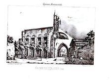 LITHOGRAPHIE 19è GUIENNE MONUMENTALE EGLISE de MIRANDE  GERS