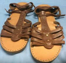 Aeropostale Brown Studded T-strap Gladiator Style Sandals Size 7