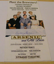 THELMA BARLOW Signed Theatre Flyer Autograph Arsenic and Old Lace Strand