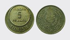 TUNISIA - NI/ 5 FRANCS 1954 ESSAI  RARE