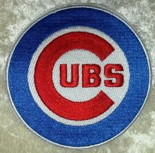 """Chicago Cubs  Big 3.5"""" Iron On Embroidered Patch ~FREE SHIP!!~"""