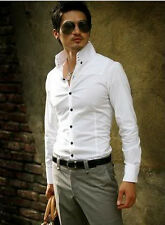 TAILOR CUSTOM MADE SIZE & COLOR Slim Skinny Fit High Collar White Shirt GSZ38SH
