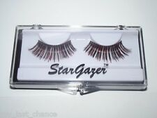 Stargazer Red Foil & Black False Eyelashes #5 gothic cyber eye lashes glam rock