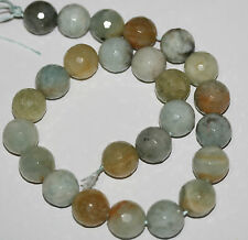 "15"" Natural  Beryl  Aquamarine Heliodor  Faceted Round  Beads 16mm"